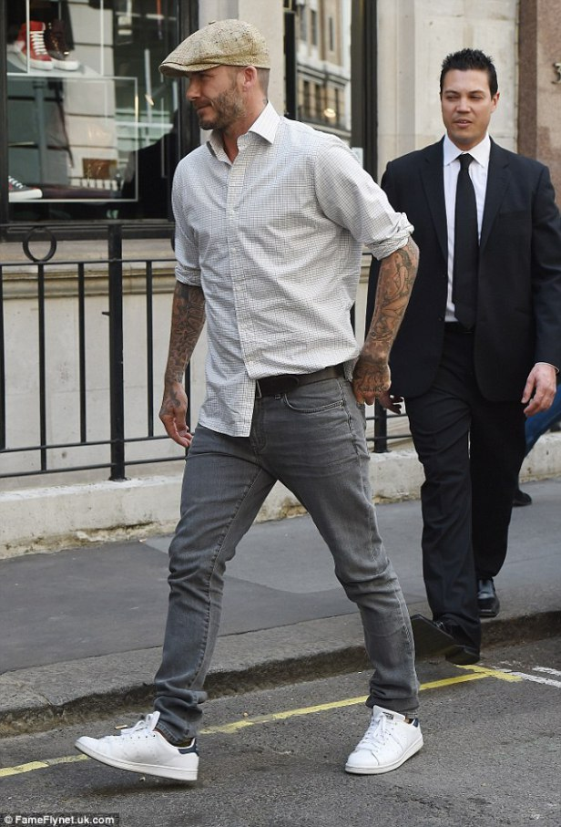 beckham white shirt