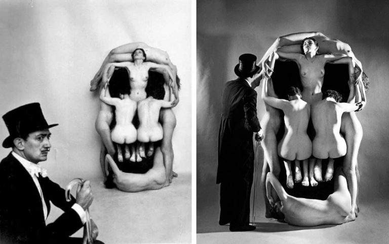 Salvador-Dali-and-Philippe-Halsman-In-Voluptas-Mors-making-of-1951-768x481